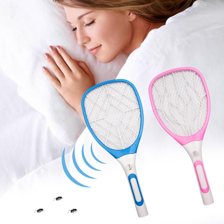 Behogar 3 слоя сетки Многофункциональный USB Перезаряжаемый СВЕТОДИОДНЫЙ Электрический летучая мышь комаров насекомых ракетка убийца ракетка