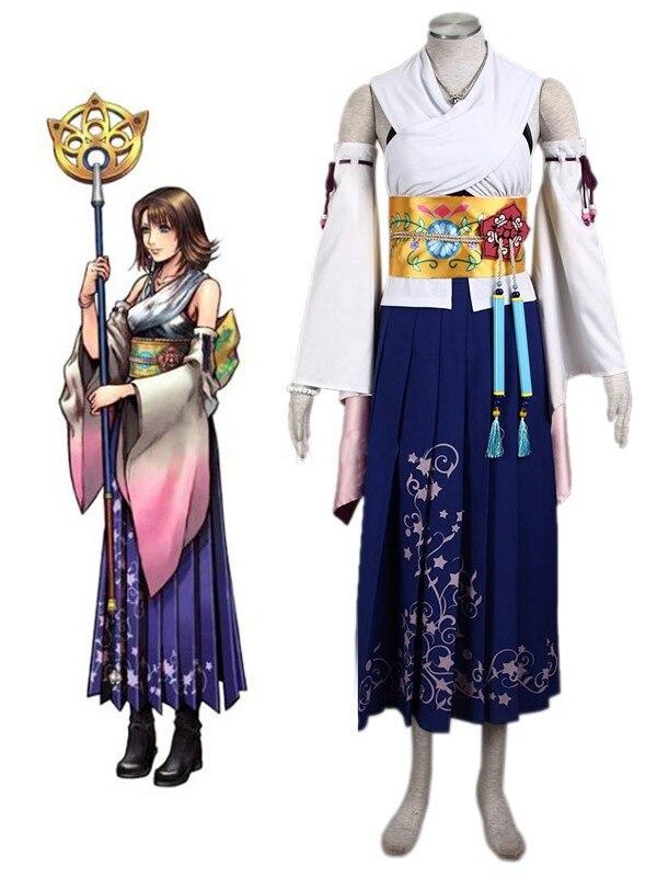 Final fantasia yuna cosplay traje jewery conjunto completo feito sob medida