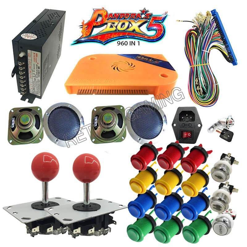 DIY childrens game machine with arcade Pandora box 5 Jamma 960 in 1 kit power supply button joystick harness