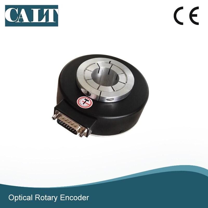 Codificador de velocidad del motor industrial de salida del controlador de línea del codificador del eje hueco de 20mm de la serie CALT GHH80