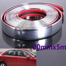 20mm 5 m Auto Styling Decoratieve Moulding Strip Trim Zelfklevende Protecter Decal Chrome Styling Van