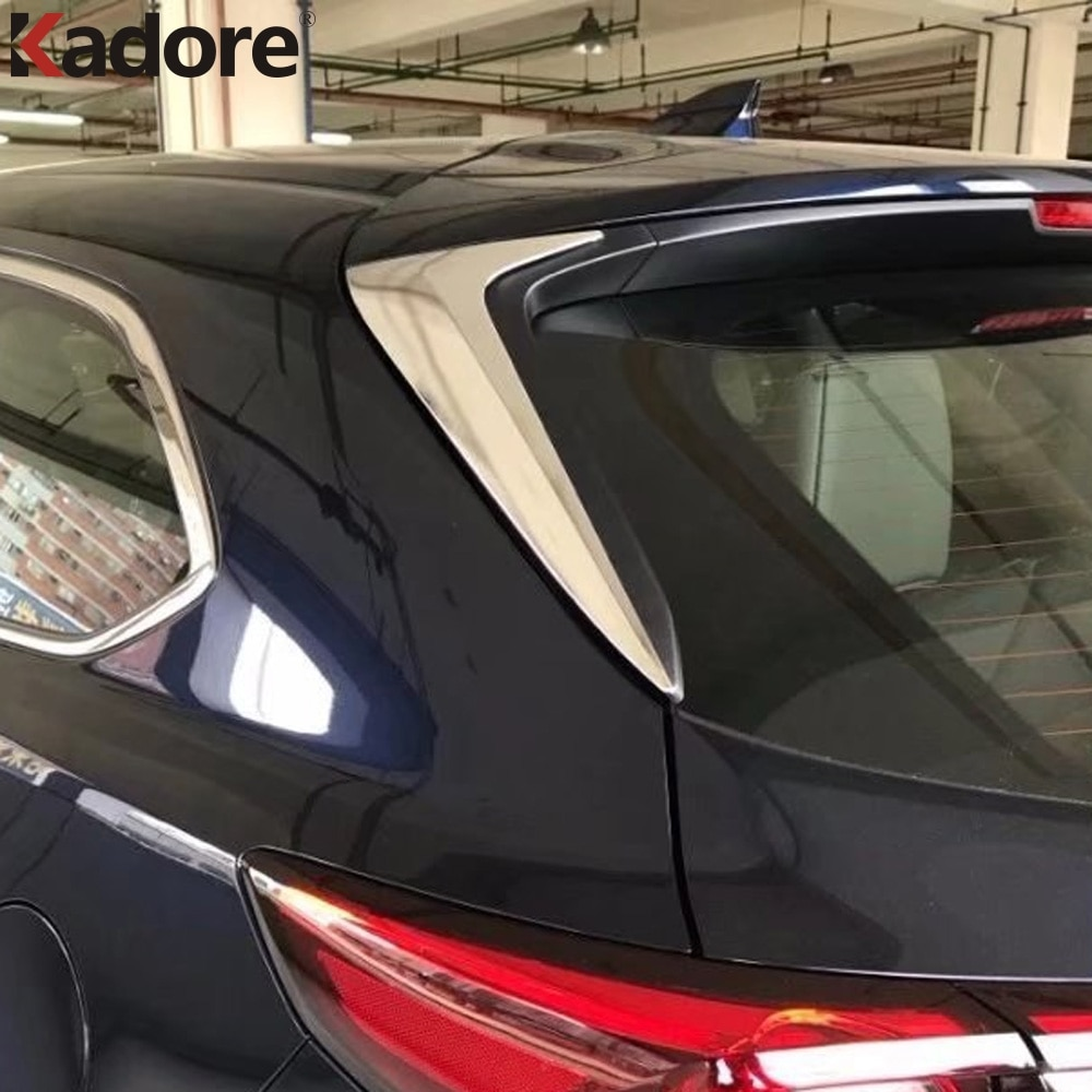 Para Mazda CX9 CX-9 2016-2019 CX8 CX-8 ABS cromado puerta lateral vista trasera ventana alerón cubierta embellecedor inserto triangular guarnición bisel