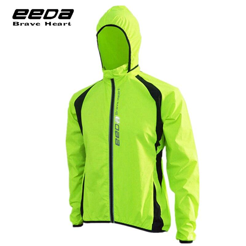EEDA Men's Cycling Jersey MTB Bike Bicicleta Breathable Reflective Long Sleeve Wind Coat Waterproof Windbreaker Cycling Clothing