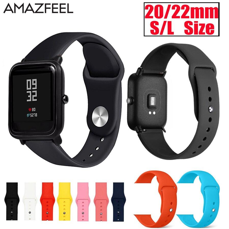 Bracelet de montre en Silicone pour Huami Amazfit Bip Bracelet Bracelet de poignet Bracelet de montre pour amazfit rythme stratos gtr 47mm sangles