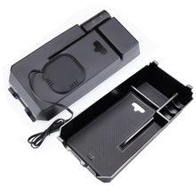 Telefone móvel caixa de embalagem de Artigos Diversos de armazenamento caixa de braço carro de carregamento sem fio Para Mercedes Benz nova C E Classe C200 GLC c180 GLC260