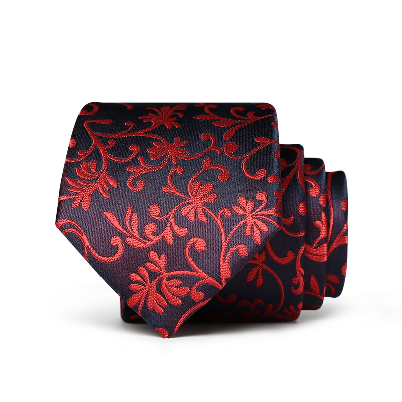 High quality 2018 sale Formal commercial wedding red floral male marriage for men business classic man neck ties with gift box