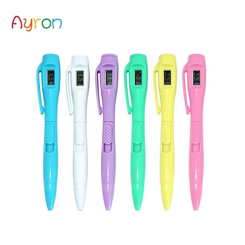 Тестовая ручка для электронных часов, шариковая ручка с часами для студентов, для работы в офисе, шариковая ручка для специальной работы
