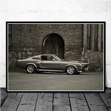 Posterler ve Baskılar Ford Mustang BMW M3 E30 Yarış Spor Araba Kas Posteri Duvar Sanatı resim tuvali Boyama Odası Ev dekor