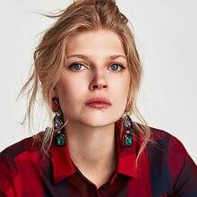Fashion Luxury Jewelry Design Crystal Drop Earrings For Women Rhinestone Dangle Earring Wedding Jewelry Brincos
