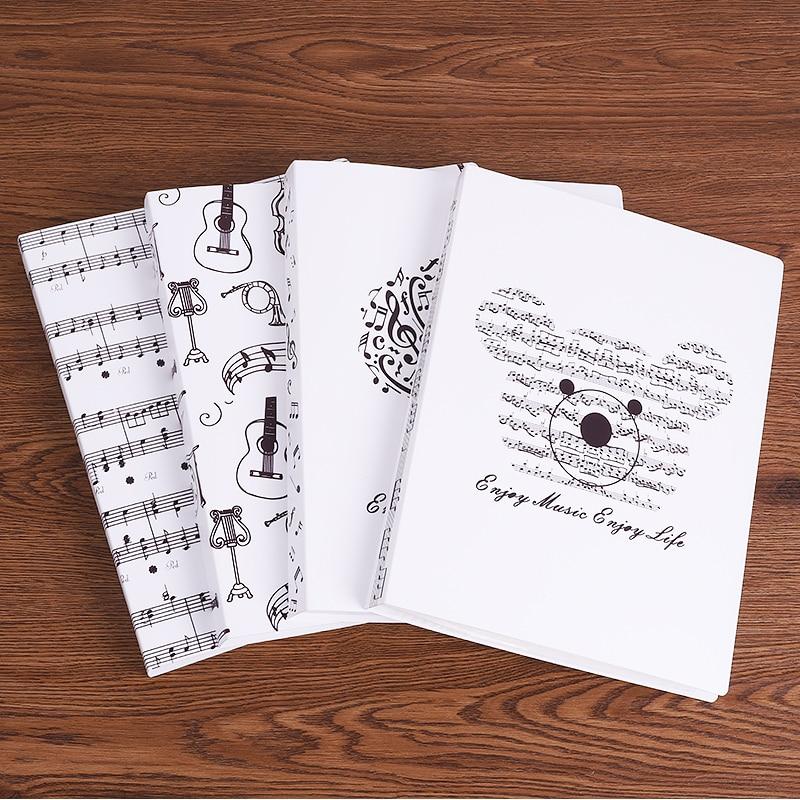 A4 taille musique partition Collection pince Document papier poches Induction dossier personnel feuille stockage paquet guitare Piano accessoires