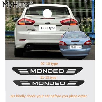 For Mondeo 07-10 Carbon Fiber Vinyl Rear Windshield Brake Light Decoration Sticker Brake Lights Stickers For Ford Mondeo 11-13