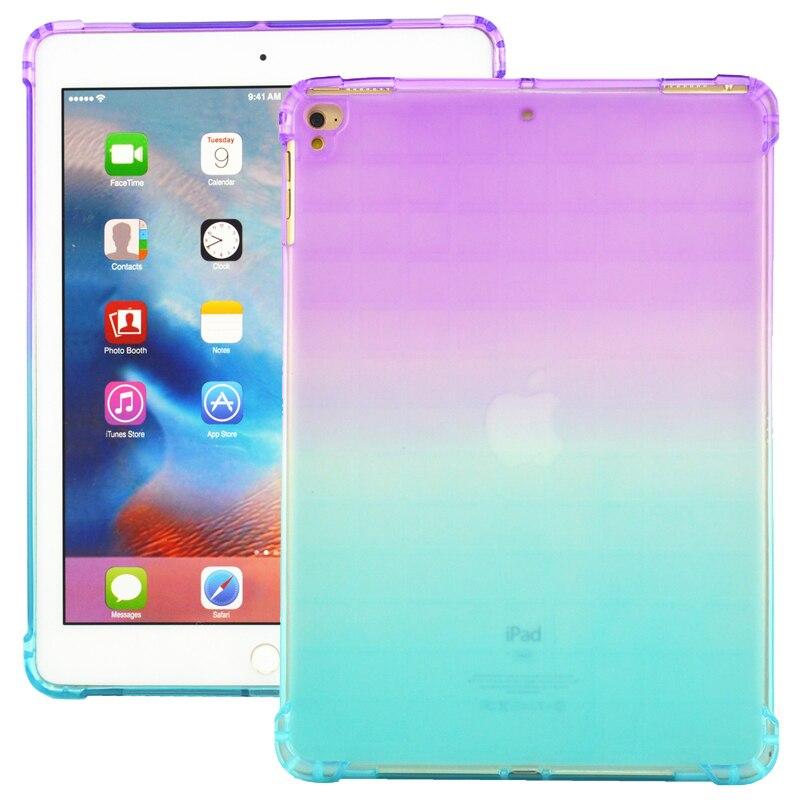 Para iPad aire Air2 suave TPU caso Universal colorido claro Tablet funda para iPad Air, iPad Pro 9,7 Apple iPad 9,7 2018 a prueba de golpes a prueba de cubierta