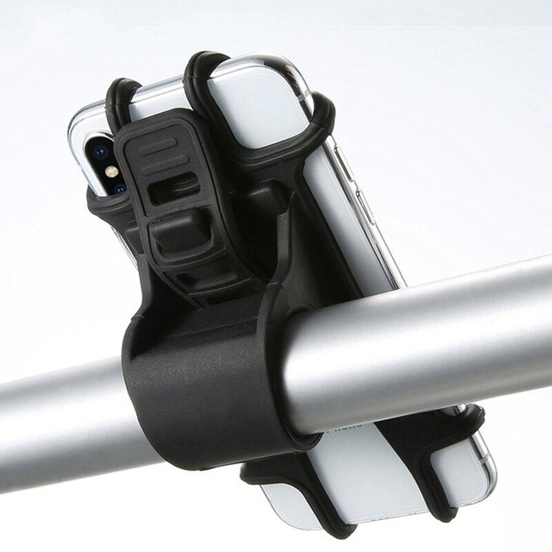 Bike Fahrrad Handy Silikon Halter Motorrad Lenker Halterung Für iPhone Samsung Xiaomi Huawei GPS Gerät