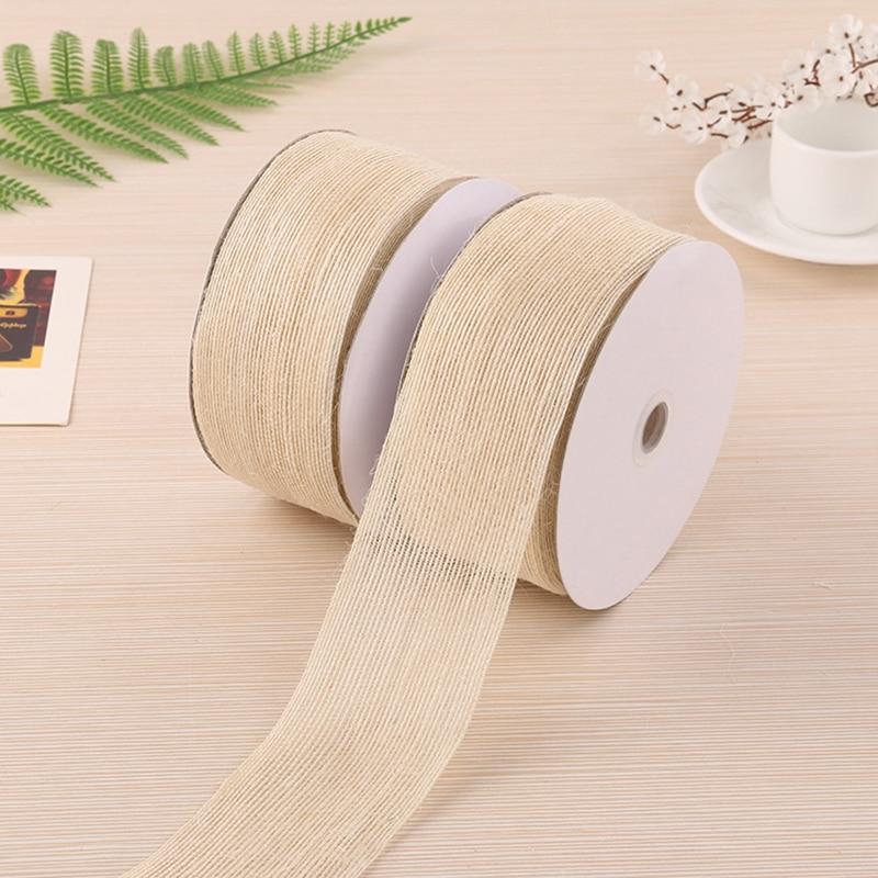Cinta de cáñamo translúcida de 20 m, lazo de costura para manualidades, cintas DIY para regalo de boda, accesorios de decoración de costura para envolver