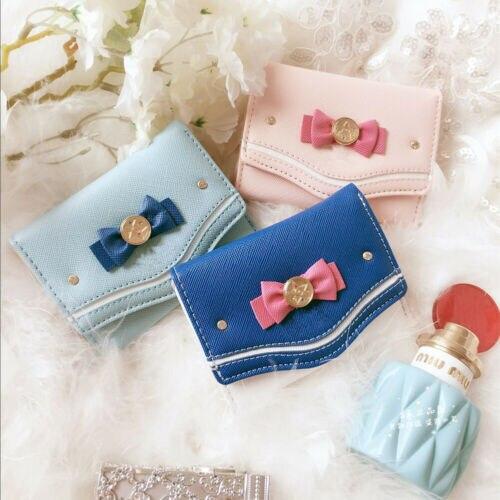 Женский маленький кошелек, с милыми цветами, кошелек для монет, с застежкой, кошелек с бантом, короткий смарт-кошелек, мини тонкий кошелек дл...