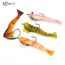MNFT 4 Colors Fishing Lures Artificial Shrimp 9cm/10g Soft Bionic Bait Built-in Crank Hook Shrimp Soft Lure