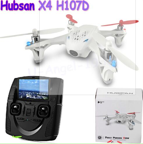 (En stock) Hubsan X4 H107D FPV 4CH 6 ejes Quadcopter RTF 5,8 Ghz FPV 6CH transmisor