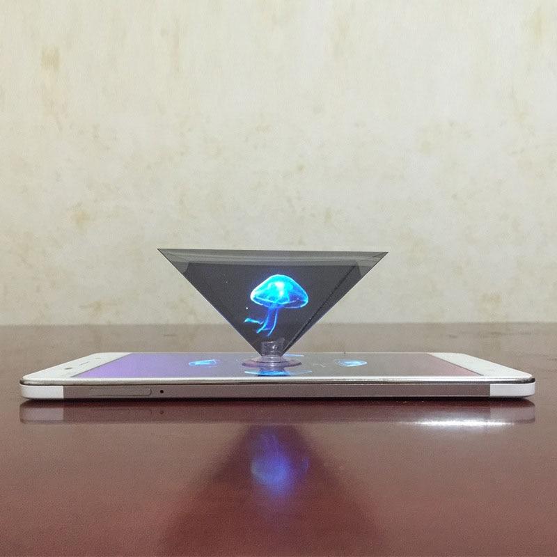 Дропшиппинг 3D Голограмма Пирамида дисплей проектор видео Стенд Универсальный для смарт мобильный телефон 8899