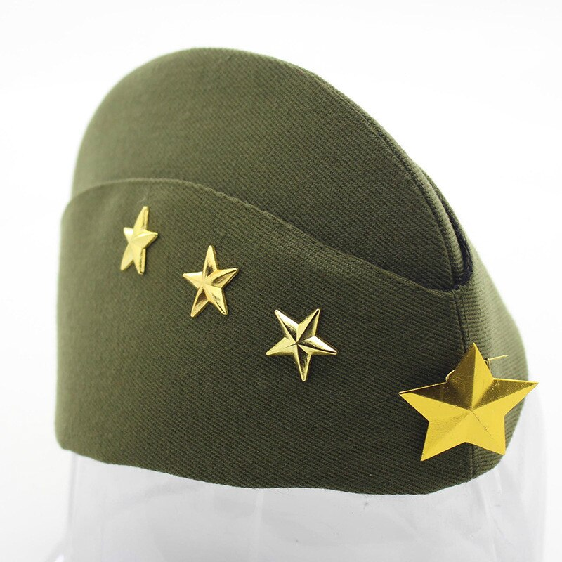 Sombrero lateral Miltary de lona plegable estrella Pilotka Garrison Army Caps Cosplay Hat