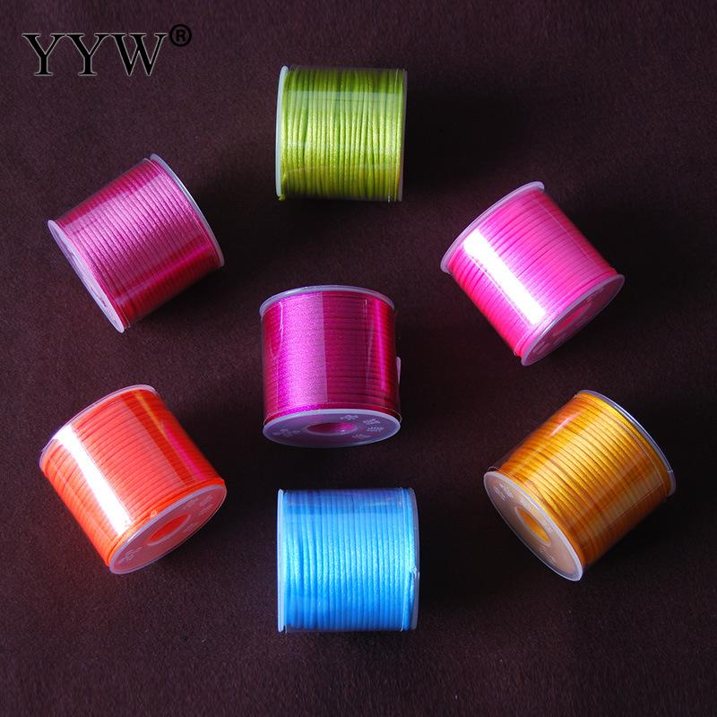¡Producto en oferta! cuerda de nailon de 2mm, cuerda trenzada de satén, 20 colores, raso chino, nudo de seda, macramé, cordón trenzado, hilo de alambre, 30 m/unids