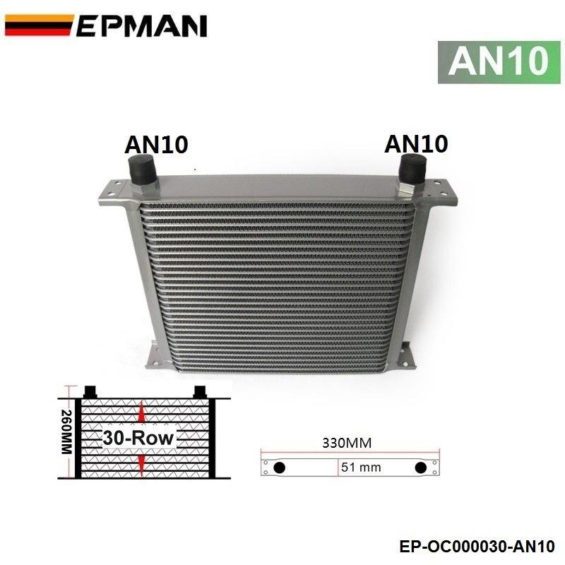 Universal 30-En hilera para motor/enfriador de aceite de transmisión AN10 tiene en stock EP-OC000030-AN10