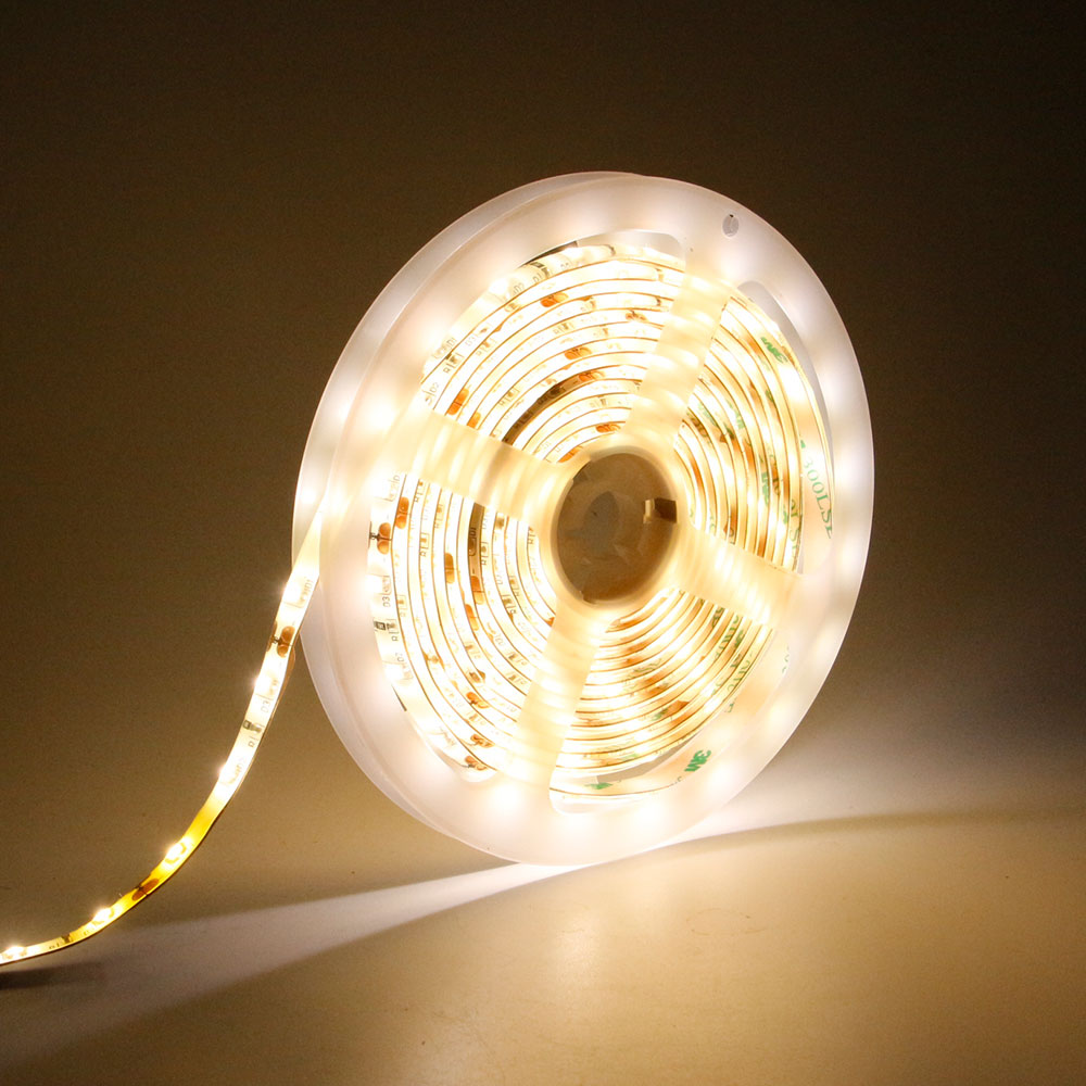 DVOLADOR Led Strip Rope Light Kit,motion sensor Stair Night Step Lighting,Motion Sensor for Kitchen Bedroom,(4AAA Batteries)
