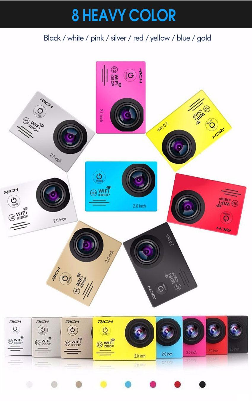 Action camera Full HD 1080P 30FPS rich Stlye Novatek96655 Wifi waterproof 30m Diving outdoor Sport camera