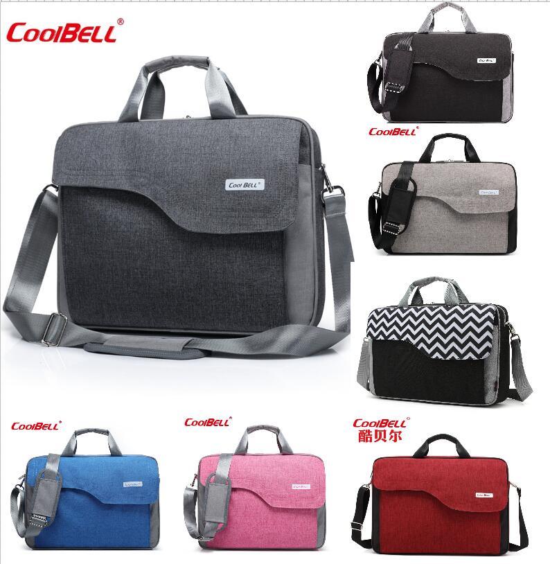 Coolbell extra grande capacidade 15 polegada 17 polegada computador saco ondulação bolsa de ombro frete grátis