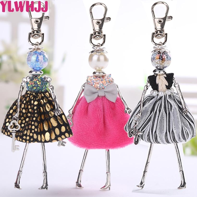 YLWHJJ новая кукла, милый женский брелок, подвеска для машины, ручная работа, модная сумка для ювелирных изделий, брелки для ключей