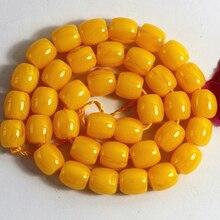 4 couleurs riz tambour résine cire dabeille entretoises perles en vrac baril accessoires 9*9mm 10*10mm 12*12mm fabrication de bijoux buddish 15 pouces B53