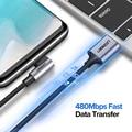 सैमसंग S9 S10 प्लस क्विक चार्ज 3.0 राइट एंगल USB टाइप C फास्ट चार्जिंग डेटा केबल गेमिंग USB-C के लिए यूग्रीन USB C केबल
