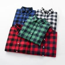 2020 Vrouwen Blouses Brand New Uitstekende Kwaliteit Flanel Rode Plaid Shirt Vrouwen Katoen Casual Lange Mouwen Tops Lady Kleding