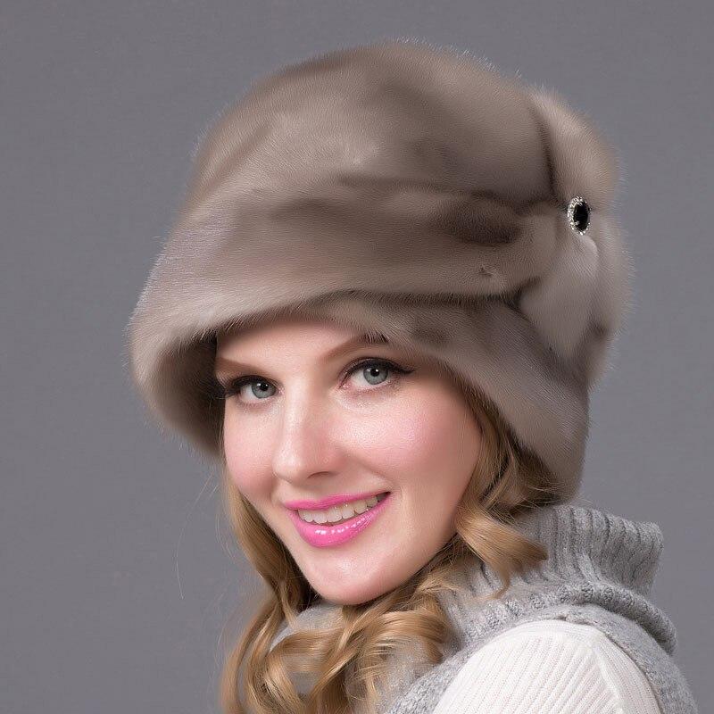 JKP 2018 Winter Women's Fur Hat Full Leather Fur Hat Flower Pattern Luxury Fashion Women's Hat Free Shipping DHY-69