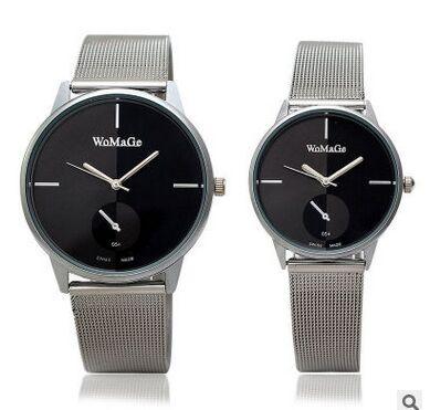 Relojes de marca de lujo para mujer, relojes de moda para parejas, reloj completo de acero inoxidable, relojes informales de cuarzo para hombre, reloj femenino