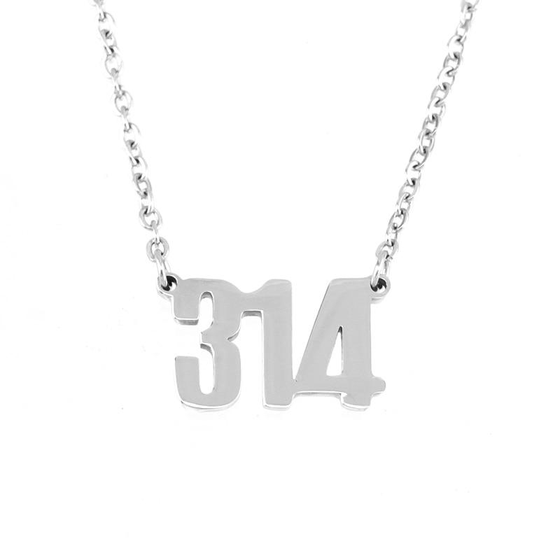 100% aço inoxidável número 314 /636 encantos pingentes colar pingentes neckalce gargantilha espelho polonês atacado 100 pçs