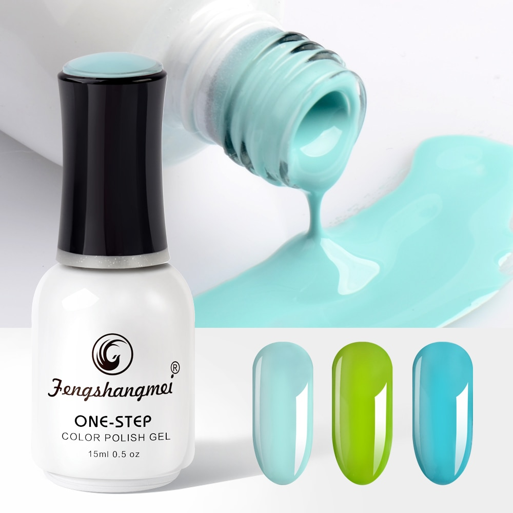 Fengshangmei Soak Off Nail Gel One Step gel Long Lasting Nail Art 30 Beauty Colors Nail Maniure Gel 15ML