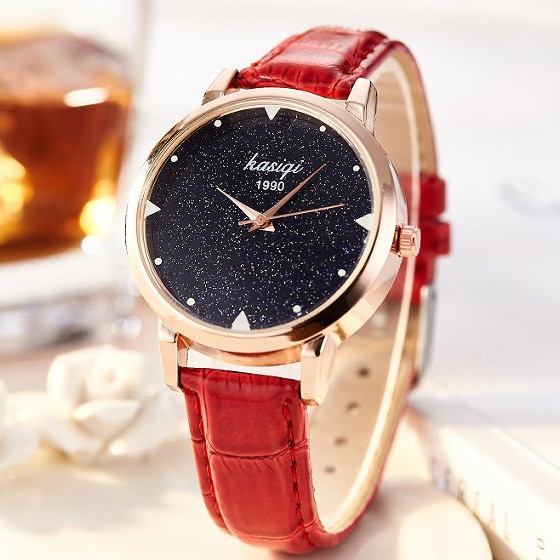 New Fashion Casual Watch Women Luxury Rose Gold Leather Wrist Watches Women's Elegant Quartz Watch Ladies Clock montre femme fashion simple ladies wrist watches luminous women watches casual leather strap quartz watch clock montre femme luxury gift