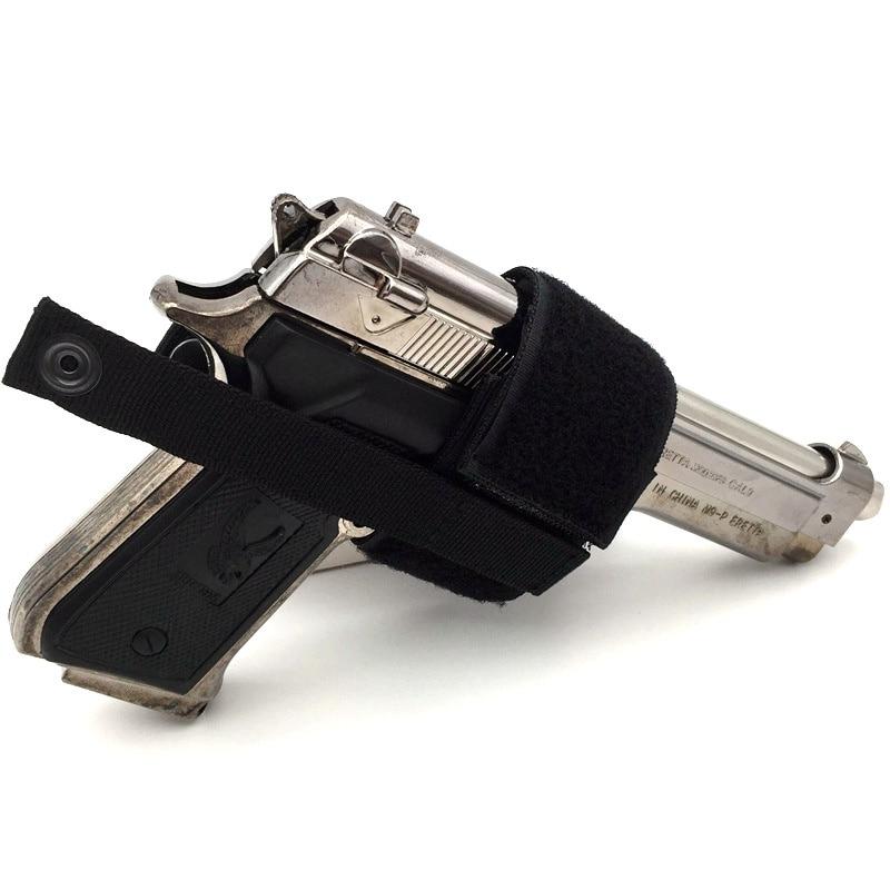 New Combat Airsoft Simple Hook & Loop Pistol Holster Gun Supplies Tactical Gun Holster Patch Modular Pistol Holster 2