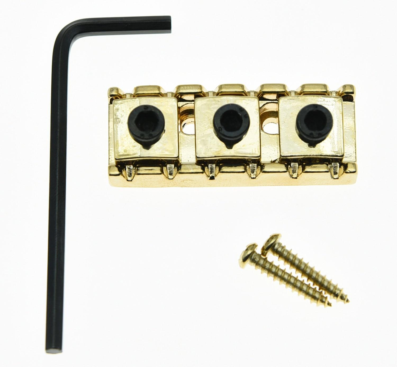 KAISH R3 Guitar 43mm Locking Lock Nut String Lock Fits Electric Guitar  Tremolo Bridge Gold