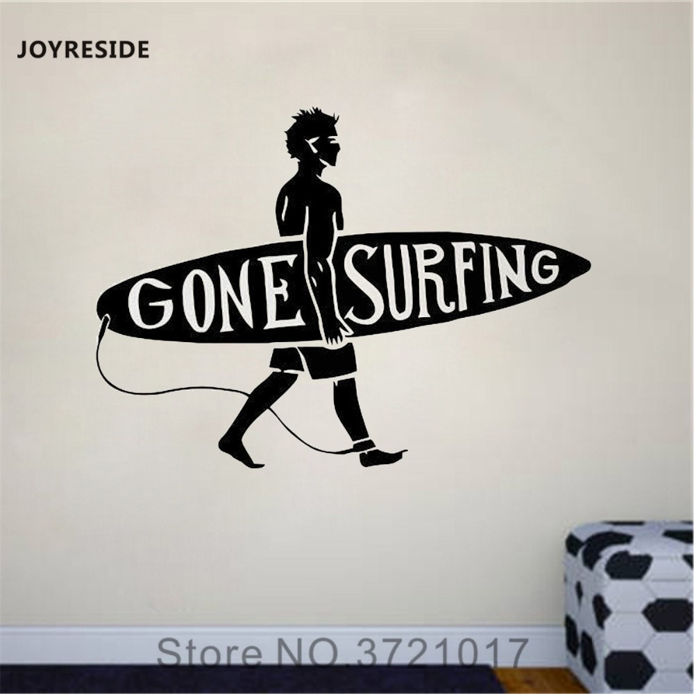 JOYRESIDE Surfplank Muur Surfen Surf Sport Decals Vinyl Sticker Woonkamer Interieur Decoratie Jongens Kamer Art Mural A1645