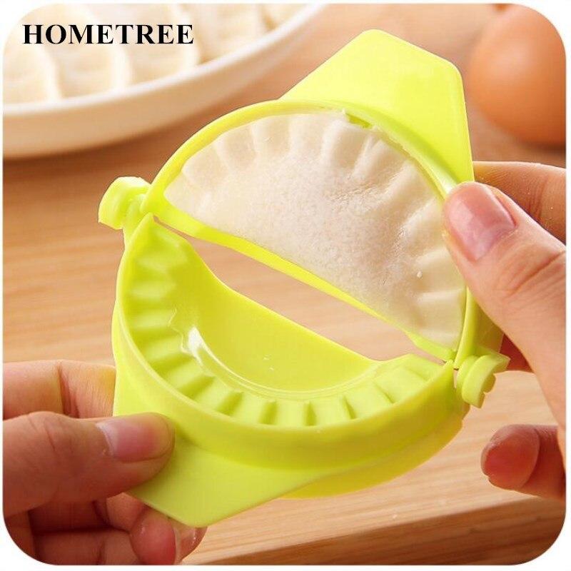 HOMETREE Device Easy DIY Dumpling Mold Kitchen Tools Dumpling Jiaozi Maker High Quality Plastic Mold Cooking Pastry Tools H469
