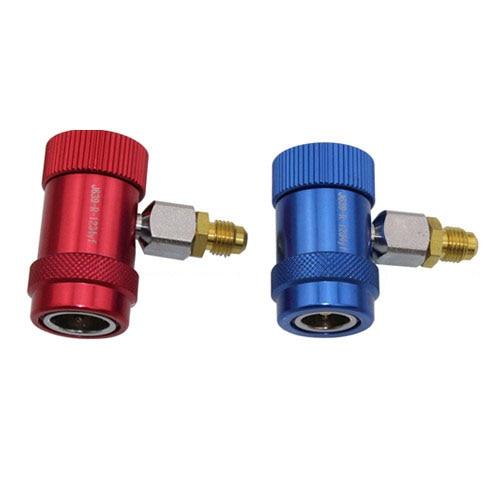 R1234yf conector rápido refrigerante aire acondicionado fluoruro adaptador de seguridad