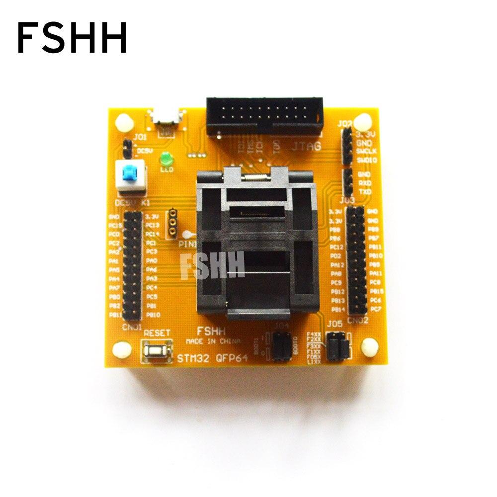 IC اختبار STM32 QFP64 اختبار المقبس STM32 TQFP64 مبرمج محول