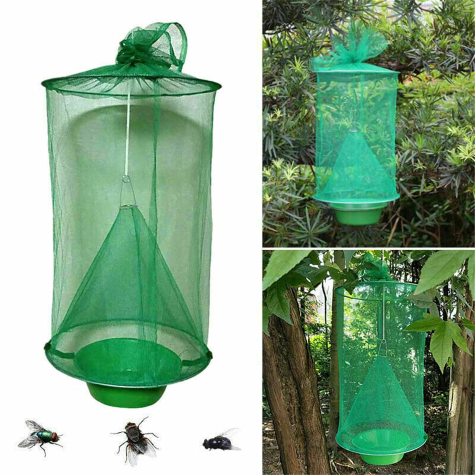 VOGVIGO reutilizable atrapamoscas jaula mata red trampa inserto plaga insectos colgante jardín jaulas para pájaros suministros para pájaros
