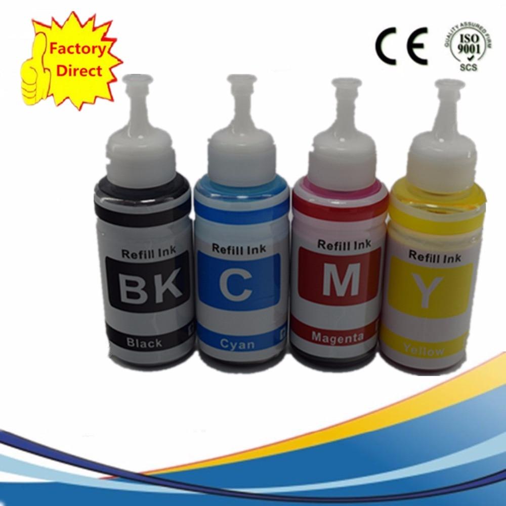 Чернила 4 цвета на основе красителя, не OEM набор заправляемых чернил Набор 70 мл L100 L110 L200 L210 L300 L355 L120 L130 L1300 L220 L310 L365