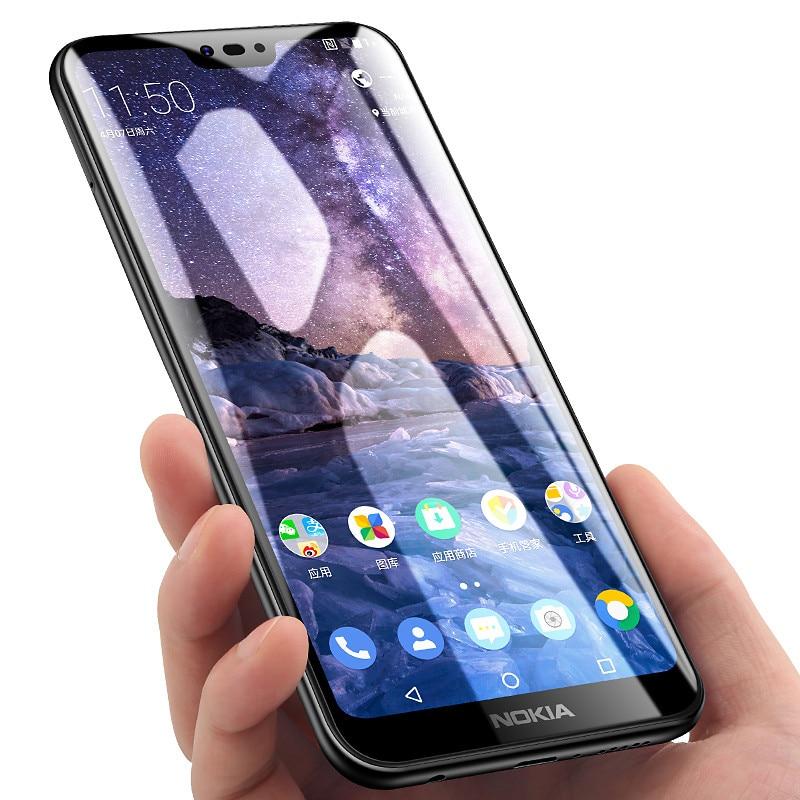 Volle Abdeckung Gehärtetem Glas Für Nokia 4,2 3,2 8,1 7,1 5,1 Plus X5 Anti Shatter Glass Für Nokia 9 8 7 X5 2 3 2018 Gehärtetem 3D Film