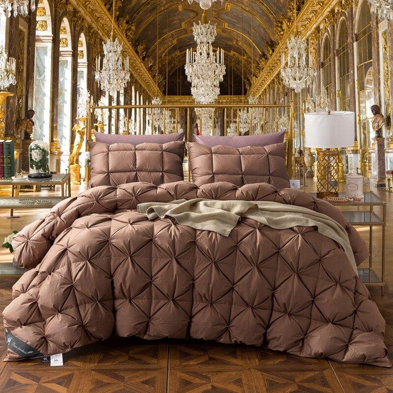 TUTUBIRD Brown Goose / Duck Down Bread Duvet Luxury Winter warm Quilt 4.9Kg Blanket Comforter Filler King Queen Twin size