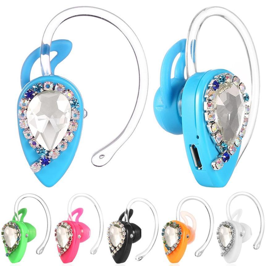 HL Mini estéreo inalámbrico Bluetooth 4,0 auriculares Auriculares auriculares de cristal de 18 E22 #5