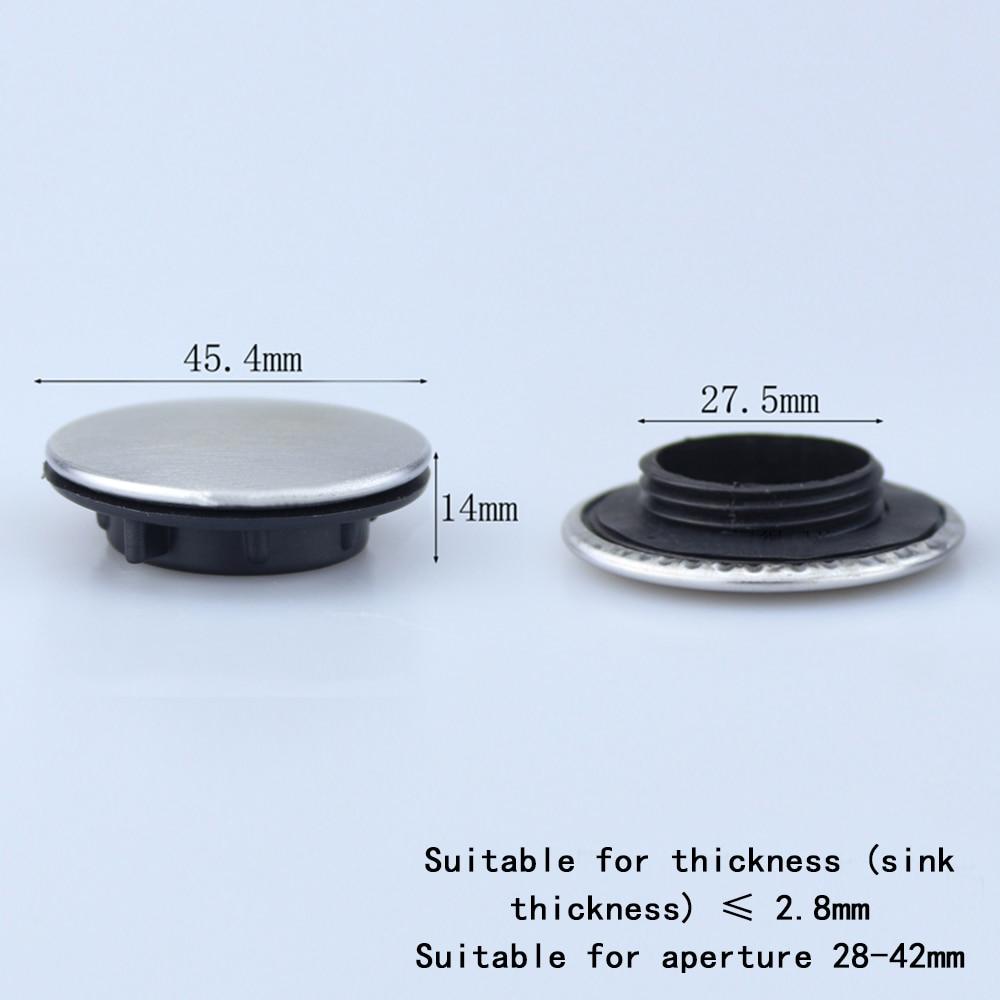 1 ud. Grifo para fregadero de cocina agujero tapa disco pulido o acabado cepillado