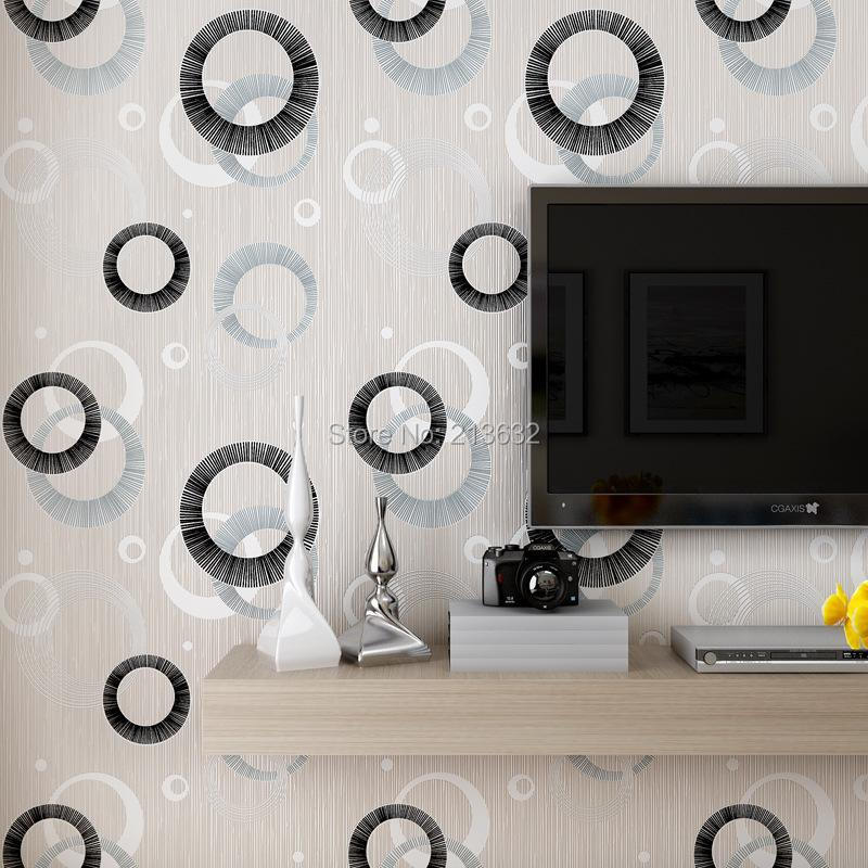ZXqz 01 papel pintado no tejido cubierta de pared paño simple no tejido papel tapiz 3D relieve tridimensional patrón de círculo redondo 2017